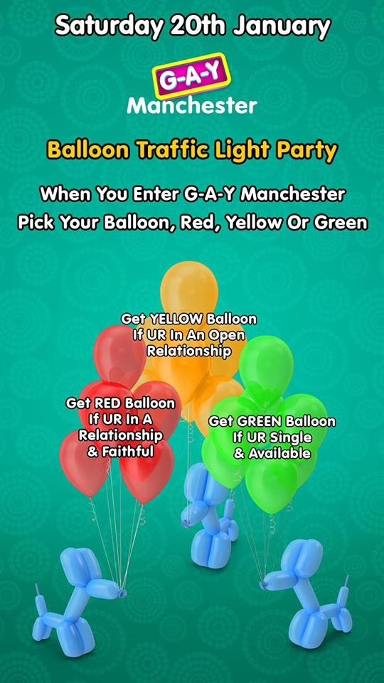gaydar GAY balloon party weekend
